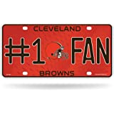 NFL Cleveland Browns #1 Fan Metal Auto Tag
