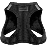 Voyager Step-in Plush Dog Harness – Soft Plush, Step in Vest Harness for Small and Medium Dogs – by Best Pet Supplies - Black