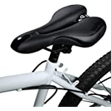Foir Bike Saddle Mountain Bike Seat Breathable Comfortable Bicycle Seat with Central Relief Zone and Ergonomics Design Relax