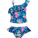 iEFiEL Girls Toddlers Two Piece Floral Tankini Swimsuit Beach Swimwear Bathing Suit 2 Piece Set