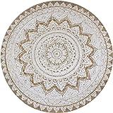 vidaXL Area Rug Strong Resilient Durable Appealing Texture Living Room Home Floor Carpet Mat Sheet Braided Jute Printed 90cm
