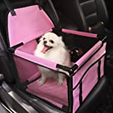 HIPPIH Small Dog Car Seat, Upgraded Booster Seat for Car with Whole Sturdy PVC Bars Frame, Pet Car Seat for Medium Dogs Under