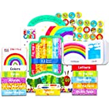Eric Carle Board Books Set for Babies Toddlers - Eric Carle Book Block Case with 12 Mini Books and Stickers