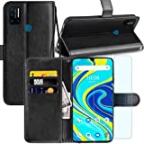Umidigi A7 Pro (6.30 Inches) Case, Umidigi A7 Pro Wallet Case, with Screen Protector,PU Leather Wrist Strap Card Slots Soft T