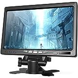 【全視野178°IPSモニター】1080P 7インチ HDMI モニター Raspberry Pi 小型液晶ディスプレイ(1024×600) HDMI VGA AVポート スピーカー内蔵 カメラ監視/DSLR/PC/CCTVカメラ/DVD Raspb