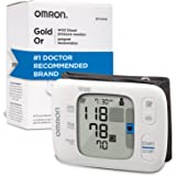 Omron Gold Blood Pressure Monitor, Portable Wireless Wrist Monitor, Digital Bluetooth Blood Pressure Machine, Stores Up to 20