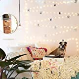 33Ft/66Ft 200leds Waterproof Copper Wire Starry String Fairy Lights USB Powered Hanging for Bedroom Indoor Outdoor Warm White