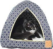 MOG & BONE Cat Igloo Navy Ikat Print