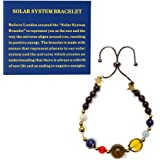 Believe London® Solar System Bracelet With Jewellery Bag & Meaning Card | Adjustable Bracelet To Fit Any Wrist | 9 Planets Ga