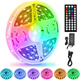LED Strips Lights 15M/50Ft, Flexible Color Changing 5050 RGB 450LEDs Light Strips with Remote Controller 24V Adapter, Non-Wat