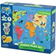 Mudpuppy Animals of the World Jigsaw Puzzle, 36 Pieces - Map of World Puzzle with 8 Animal Play Figures, Ages 3+