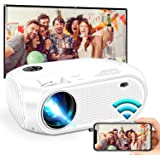"Wireless WiFi Projector 3800L,WEILIANTE 2020 Upgraded Mini Video Projector, Support 50,000Hrs, 200"" Display, Full HD 1080P, C"
