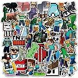 Potota Minecra_ft Stickers| 50 Pack |Vinyl Waterproof Stickers for Laptop,Bumper,Water Bottles,Computer,Phone,Hard hat,Car St