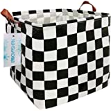 LANGYASHAN Square Storage Bins Waterproof Canvas Kids Laundry/Nursery Boxes for Shelves/Gift Baskets/Toy Organizer/Baby Room