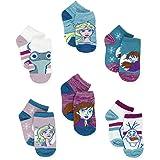 Disney Frozen 2 Anna Elsa Toddler Girls 6 Pack Quarter Socks Set
