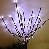 AMARS 2 Pack Branch Lights Artificial Twig Willow LED Lighted Branches Battery Powered 20 Inches 20leds Decorative Lights (Wh