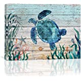 Home Wall Art for Bathroom Sea Turtle Wall Decor Bathroom Decor Prints Canvas Wall Art Ocean Decor Small Framed Artwork for W