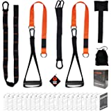 Vulken BodyWeight Exercise Straps, CoreSlings Basic Home Gym Kit Body Suspension Resistance Straps for Travel, and Outdoors,