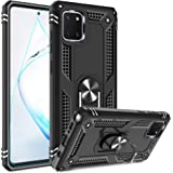 Gritup Samsung Galaxy Note 10 Lite Case, M60s Case with HD Screen Protector, [Military Grade] Metal Ring Kickstand Designed C