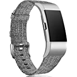 Maledan Compatible with Fitbit Charge 2 Bands for Women Men, Breathable Woven Fabric Accessory Strap Compatible with Fitbit C