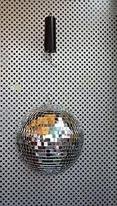 ミラーボール/20cm モーター付き★スパークミラーボール★ディスコボール★アメリカ雑貨★ アメリカン雑貨 ★ アメ雑貨★ アメ雑