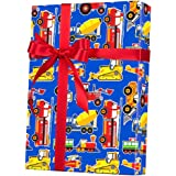 """Toy Trucks Big Rig Rolled Gift Wrap Paper - 24"""" x 15'"""