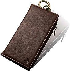 MUSUBO Iphone 財布型 分離可能 携带ケース 高品質PU素材(小銭&イヤホン収納可能) 大容量 スタンド機能 レトロブラウン (iPhone 7 Plus/8Plus 対応)