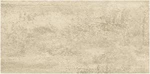 置くだけウッドフロア 接着剤不要 賃貸OK 簡単 LVTフロア タイル調 クリームトラバーティン 1251x187x4.5mm 9枚入 V2120-40046