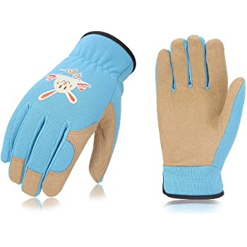 307799395a30b Vgo 5-6歳用 子供 作業 園芸 掃除 アウトドア 多目的 春秋用 キッズグローブ 子供用手袋 (1双入