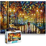 1000 Piece Puzzles for Adults Kids Interesting Toys Brain Teaser Jigsaw Puzzles Unique Hard Puzzles Games(Street SCEME)