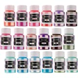 NODDWAY Metallic Color Shift Pigment Powder 18 Colors Pearl Fine Mica Powder, Epoxy Resin Dye for Resin Jewelry Art, Tumbler