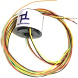 Taidacent Hollow Electrical Slip Ring 2/4/6/12 Wires Collector Ring Conductive Motor Electrical Contact Rotating Connector (6