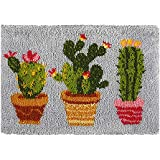 Tapestry Kits Latch Hook Rug Kits Carpet Embroidery Latch Hook Rug Needlework Button Package DIY Rugs Hook Rug Point Rug Cact