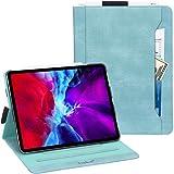 iPad Pro 12.9 ケース 2020 iPad Pro 12.9 2020 ケース Toplive 高級PUレザー スタンド機能 オートスリープ機能 カードポケット付き Apple Pencil収納可 手帳型 薄型 耐衝撃 全面保護 iPad