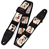 "Levy's Leathers MPS2-072 2"" Sonic Art Series Polyester Guitar Strap, Pin-Up Design"