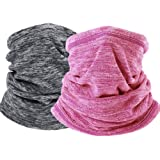 H HOME-MART Neck Warmer Gaiter Ski Winter Balaclava for Men and Women, Winter Face Mask Scarf Tube Cover Bandanas for Windpro