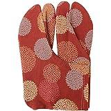 [オオキニ] 足袋 ストレッチ足袋 小紋 柄足袋 こはぜなし フリーサイズ 22.5~25cm