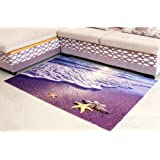 ZaH Thin 3D Ear Rug Non-slip Doormat Carpet Printing Rug for Living Room Bedroom Kitchen Bathroom (2x3 - 19.7x31.5 Beach)