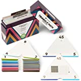 Think Tank Scholar Triangle Math 376 Equations Multiplication & Division Flash Cards   Full Set (All Facts 0-12)   Color Code