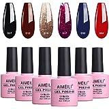 AIMEILI Gel Nail Polish Soak Off UV LED Multicolour/Mix Colour/Combo Colour Set Of 6pcs X 10ml - Kit Set 21