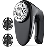 Sweater Fabric Shaver - Triple Protection & 60 Minutes Working, FETY Rechargeable Electric Lint Fuzz Pills Remover, Clothes D