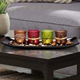 Lamorgift Home Decor Candle Holders Set for Bathroom Decorations - Candle Holder Centerpieces for Dining Room Table & Living