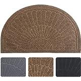 (Coffee) - Half Round Door Mat Entrance Rug Floor Mats, Waterproof Floor Mat Shoes Scraper Doormat, 46cm x 80cm Patio Rug Dir