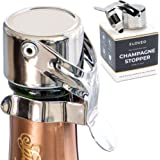 Champagne Stoppers by Kloveo - Patented Seal (No Pressure Pump Needed) Made in Italy - Professional Grade WAF Champagne Bottl