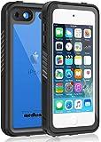 Merit iPod touch5 iPod touch6 iPod touch7 防水ケース 第7世代 第6世代 第5世代対応 フルプロテクション カバー 防水ケース IP68完全防水 防塵 防雪 耐衝撃 キズ防止 薄型 リング付き (黒)