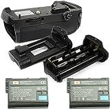 DSTE® プロ 互换 MB-D12 垂直 バッテリーグリップ + 2x EN-EL15 のために Nikon ニコン D800 D810 D800E D800S カメラ [並行輸入品]