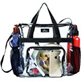 Maytreebags Clear Tote Bag Stadium Approved,Transparent Tote Bag Stadium Security Travel and Gym Clear Bag, See Through Tote