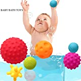 IGOOUO Bath Toys Massage Ball Baby Early Education Puzzle Hand Catch Ball Bathroom Spray Water Ball Children Bath Toys