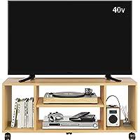 DEVAISE テレビ台 テレビラック テレビボード ローボード キャスター付き 移動便利 40インチまで対応 コーナー…
