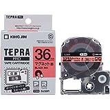 キングジム テープカートリッジ テプラPRO マグネットテープ 36mm 赤 SJ36R
